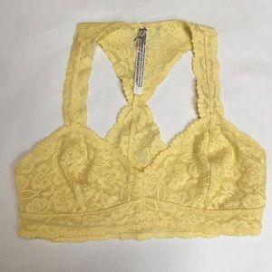 FREE PEOPLE yellow bralette size L